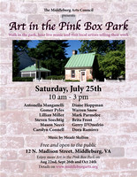 art in the pink box poster