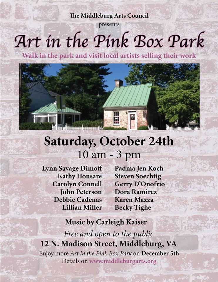 Art in Pink Box October Flyer