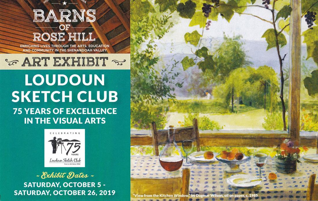Loudoun Sketch Club Art Exhibit Announcement