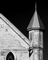Fine art black and white photograph of old church taken in Key West FL